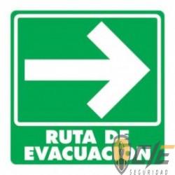 SEÑAL MODELO 001 RUTA DE EVACUACIÓN DERECHA