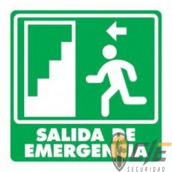SEÑAL MODELO 004 SALIDA DE EMERGENCIA ESCALERA IZQUIERDA