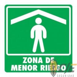 SEÑAL MODELO 007 ZONA DE MENOR RIESGO