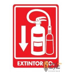 SEÑAL MODELO 038 EXTINTOR CO2