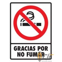 SEÑAL MODELO 045 GRACIAS POR NO FUMAR