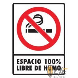 SEÑAL MODELO ESPACIO 100% LIBRE DE HUMO