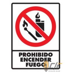 SEÑAL MODELO 049 PROHIBIDO ENCENDER FUEGO